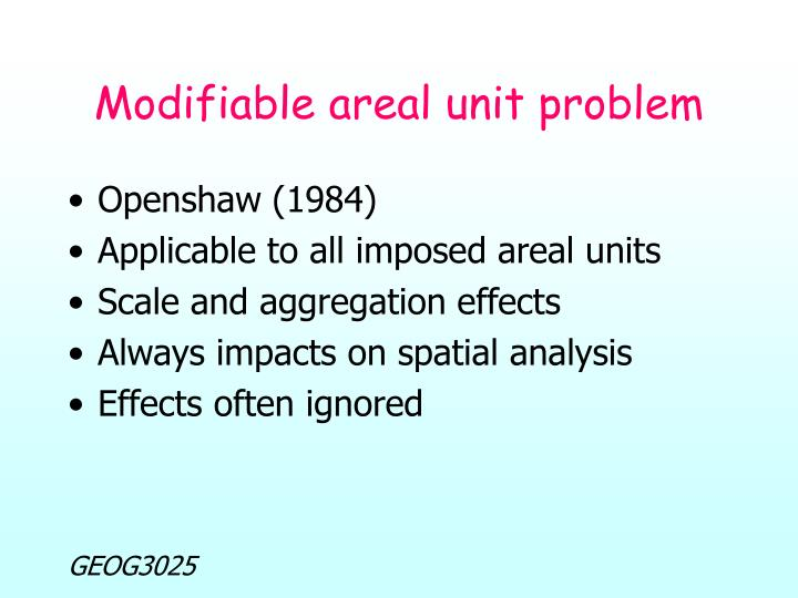 Modifiable areal unit problem