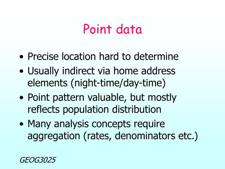 Point data