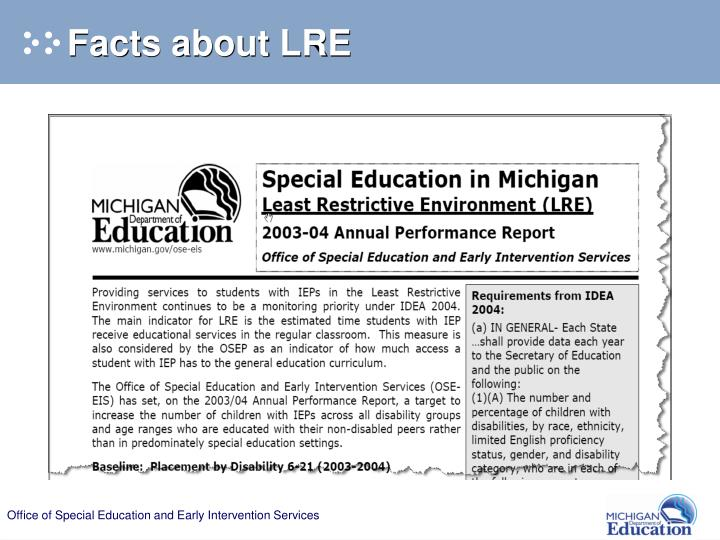 Facts about LRE