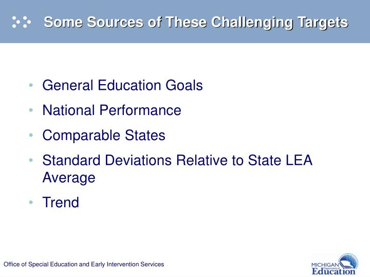 Some Sources of These Challenging Targets