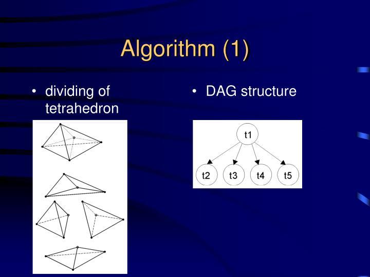 dividing of tetrahedron