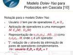 modelo dolev yao para protocolos em cascata 102