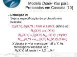 modelo dolev yao para protocolos em cascata 104