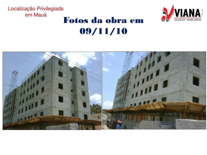 Fotos da obra em 09/11/10