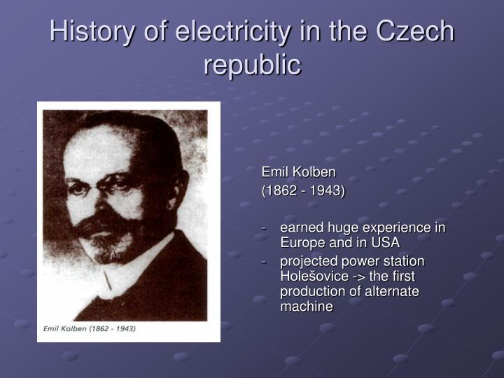 History of electricity in the Czech republic