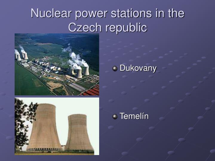 Nuclear power stations in the Czech republic
