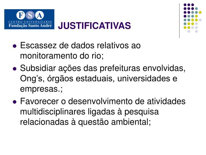 JUSTIFICATIVAS