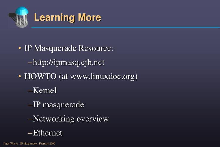 IP Masquerade Resource: