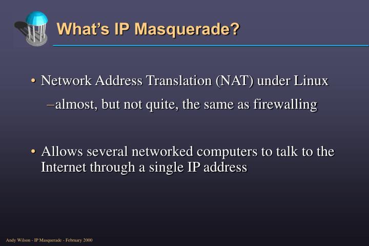 What s ip masquerade