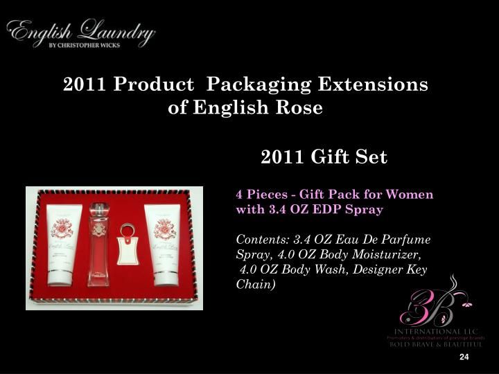 2011 Product  Packaging Extensions of English Rose