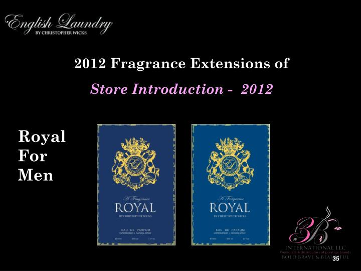 2012 Fragrance Extensions of