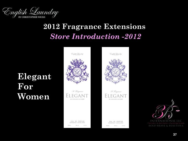 2012 Fragrance Extensions