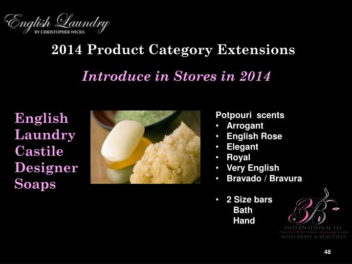 2014 Product Category Extensions