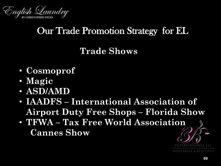 Our Trade Promotion Strategy  for EL