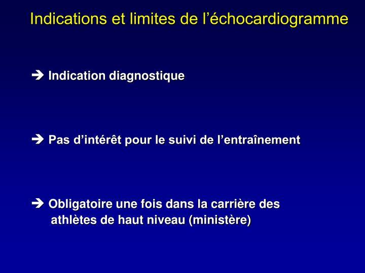 Indications et limites de l'échocardiogramme