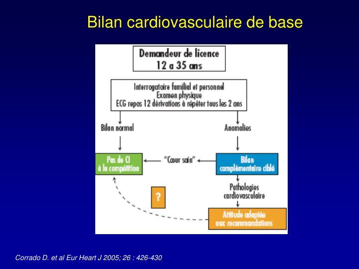 Bilan cardiovasculaire de base