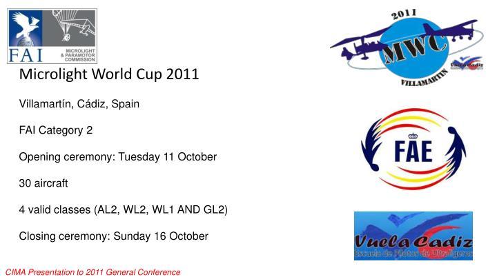 Microlight World Cup 2011