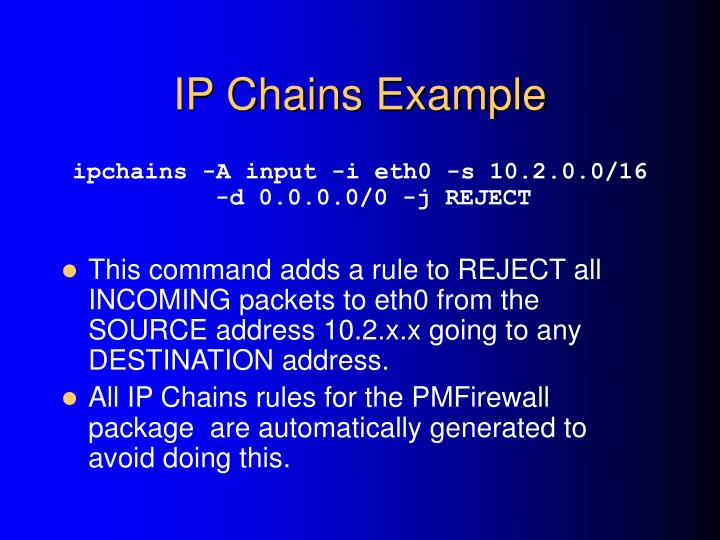 IP Chains Example