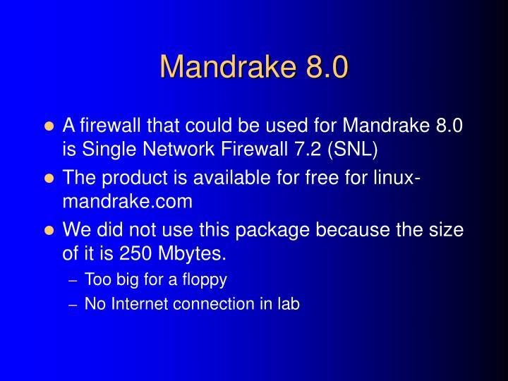 Mandrake 8.0