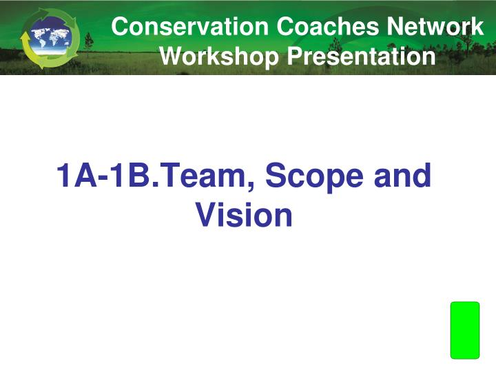 1a 1b team scope and vision n.