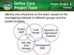 define core project team