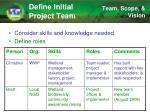 define initial project team2
