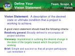 define your vision statement1