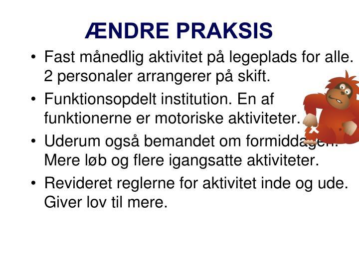 ÆNDRE PRAKSIS