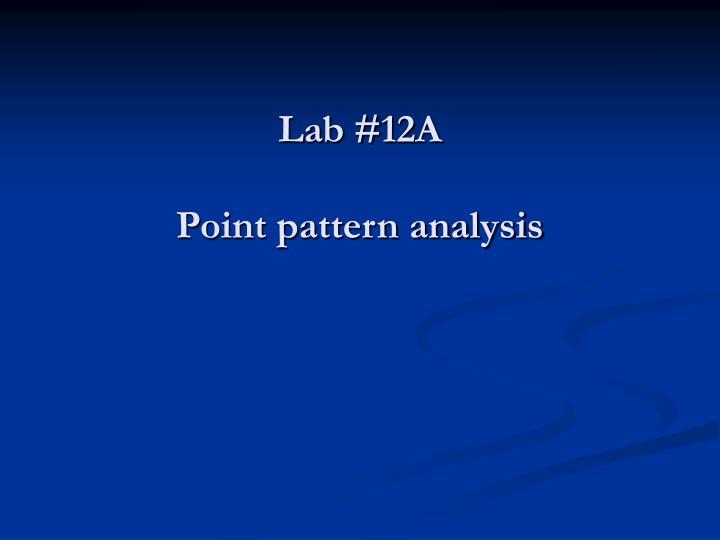 Lab #12A