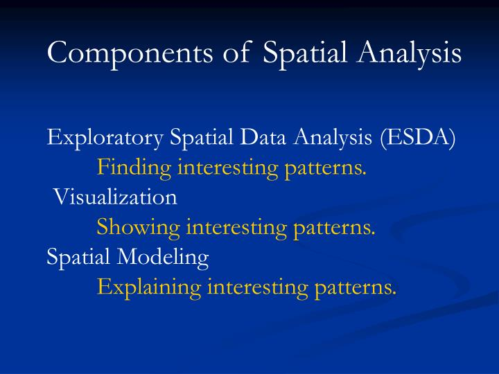 Components of Spatial Analysis