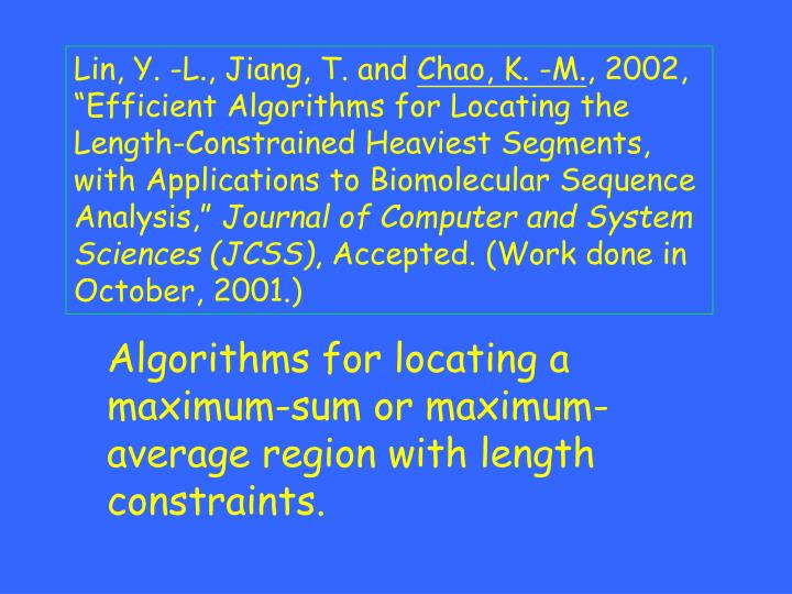Lin, Y. -L., Jiang, T. and