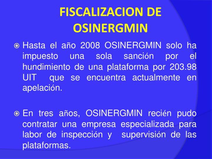 FISCALIZACION DE OSINERGMIN