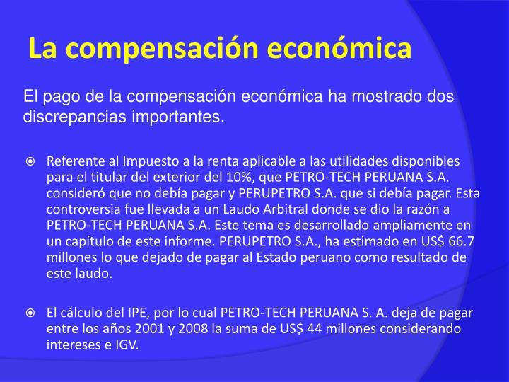 La compensación económica