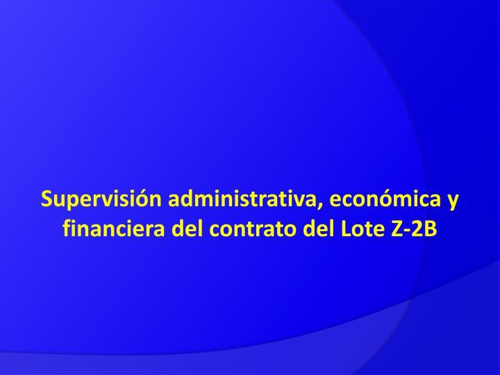 Supervisión administrativa, económica y