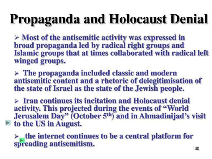 Propaganda and Holocaust Denial