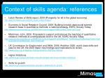 context of skills agenda references