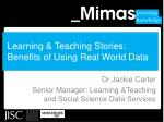 learning teaching stories benefits of using real world data