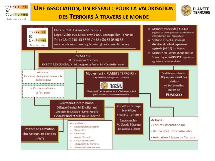 Une association, un réseau : pour la valorisation des Terroirs à travers le monde