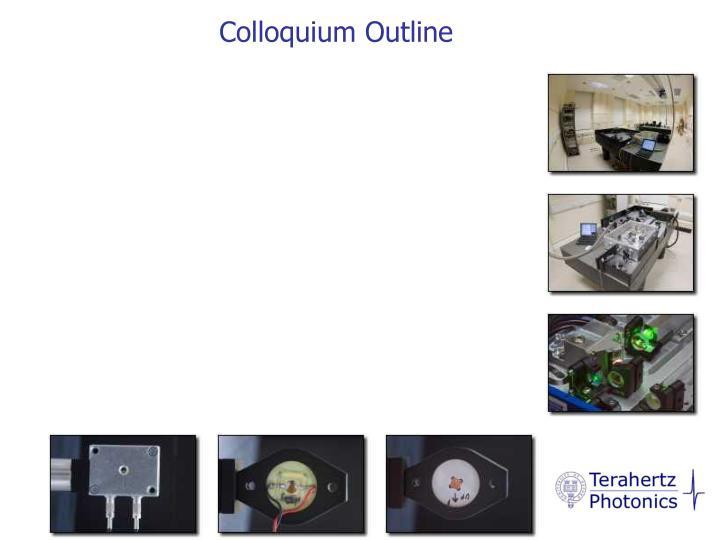 Colloquium Outline