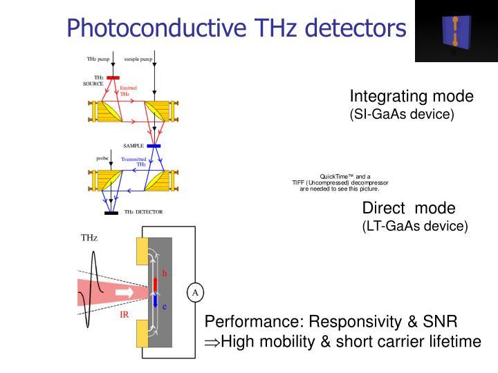 Photoconductive THz detectors