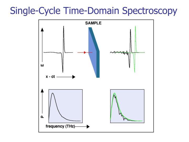 Single-Cycle Time-Domain Spectroscopy