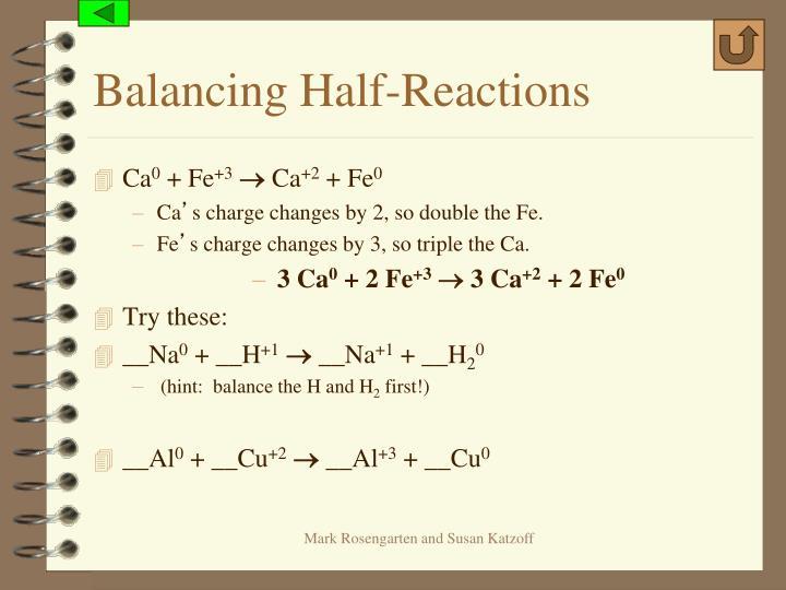 Balancing Half-Reactions
