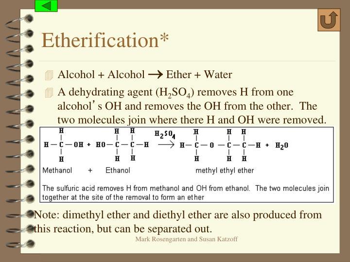 Etherification*