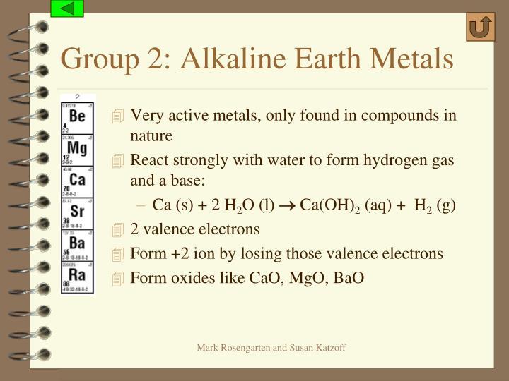 Group 2: Alkaline Earth Metals