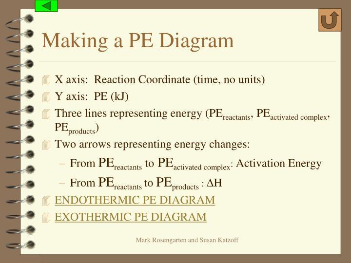 Making a PE Diagram