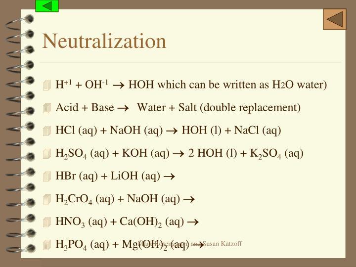 Neutralization