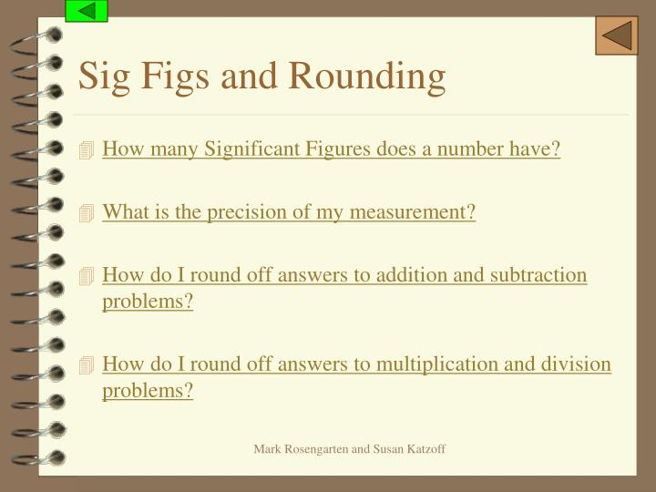 Sig Figs and Rounding