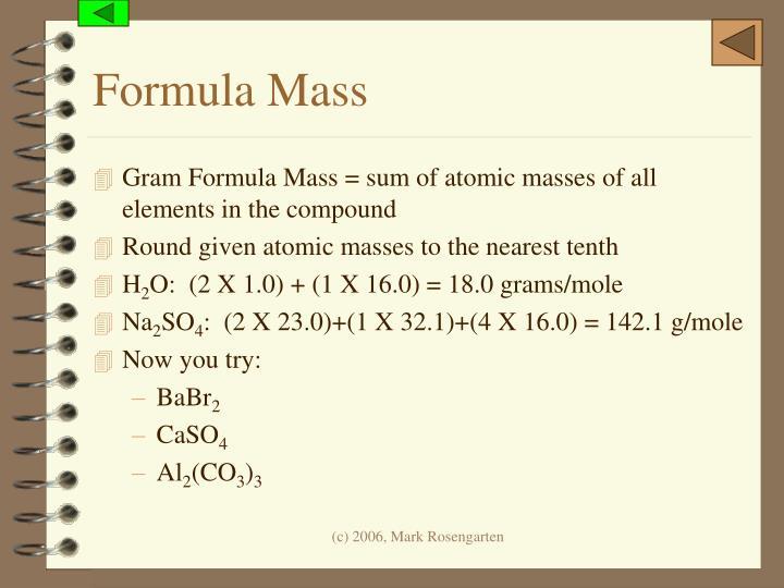 Formula Mass