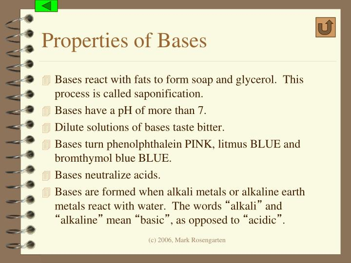 Properties of Bases