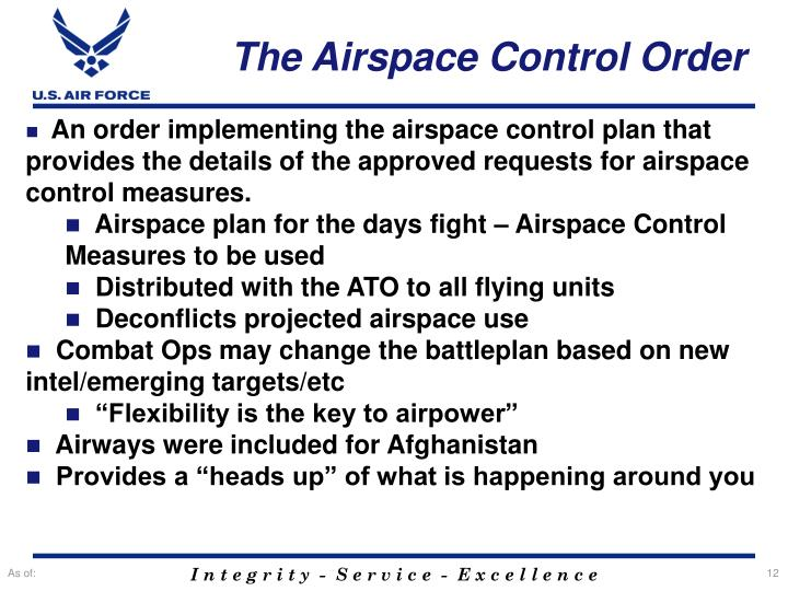The Airspace Control Order